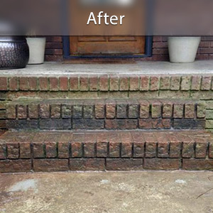 Sinking stairs repaired with PolyLevel® Chatham