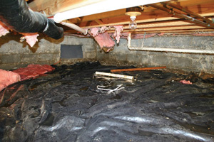 Crawl Space Repair Before in Chatham