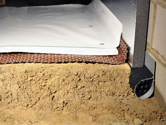 A Crawl E Encapsulation And Insulation System Complete With Drainage Matting For Flooded Es