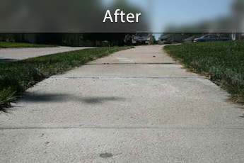 After photo of PolyLevel® concrete sidewalk repair in Chatham