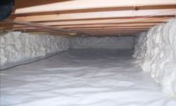 A clean, insulated crawl space in Amherstburg, Ontario