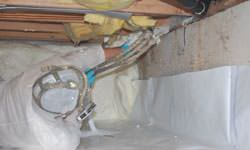Crawl space vapor barrier system in Leamington, Ontario