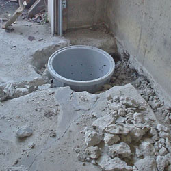 Placing a sump pit in a Wallaceburg home
