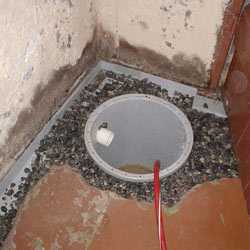 Installing a sump in a sump pump liner in a Sarnia home