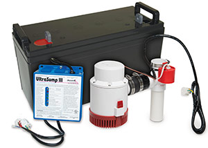 a battery backup sump pump system in Ingersoll