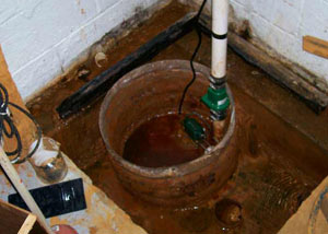 Extreme clogging and rust in a Ingersoll sump pump system
