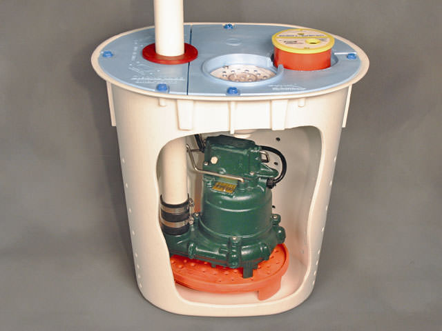 Cutaway View Of Our Crawl E Sump Pump System