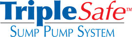 Sump pump system logo for our TripleSafe™, available in areas like Huron Park