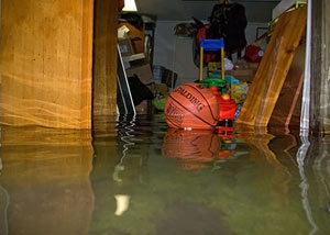 A flooded basement bedroom in Port Stanley