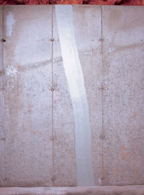 installed flexispan basement wall crack system installed - Fixing Foundation Cracks