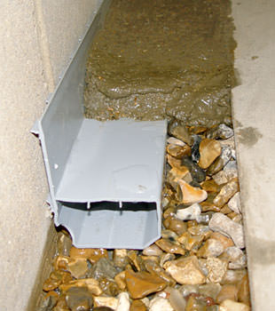 A basement drain system installed in a Leamington home