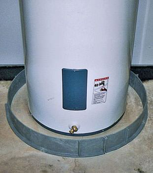 An old water heater in St Marys, ON with flood protection installed