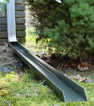 Gutter downspout extension installed in Lambton Shores