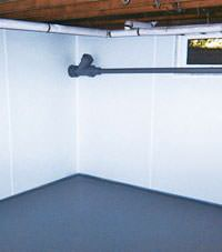 Plastic basement wall panels installed in a Strathroy, Ontario home