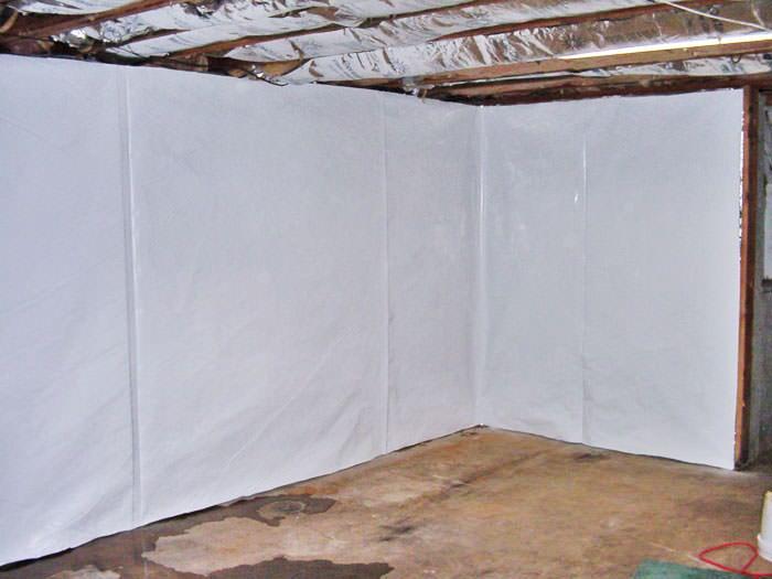 Nice ... Basement Wall Vapor Barrier In Crediton ... Gallery