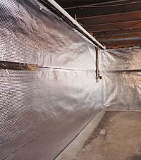 Radiant heat barrier and vapor barrier for finished basement walls in Strathroy, Ontario